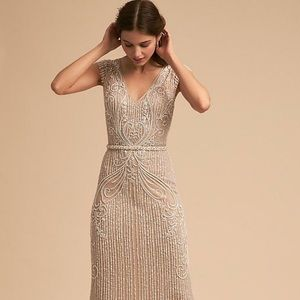 BHLDN SANDERS DRESS NUDE - SIZE 2